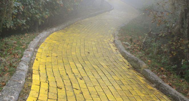 24625338 - yellow brick road, beech mountain, north carolina