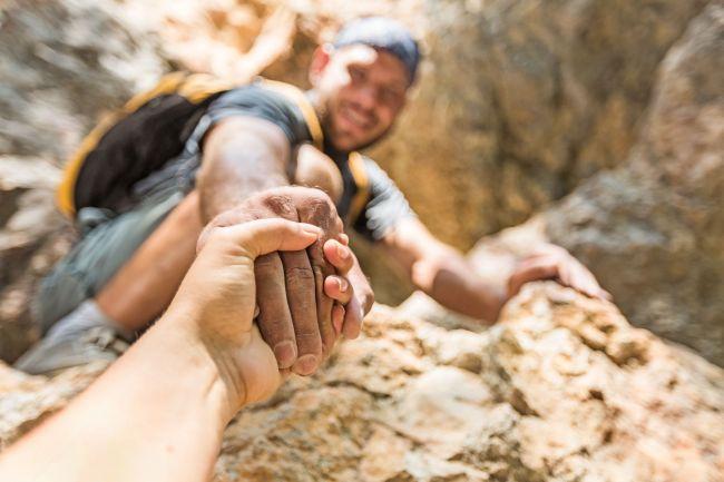 48216970 - rock climbing.